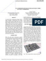 Test and Analysis of a Composite Multi Bay Fuselage Panel Under Uni Axial Compression