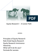 Equity Research Career Path