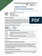 Microorganismos liofilizados