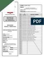Registro De Evaluación 2019 - MODULO I