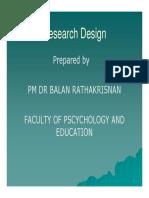 Dr. Balan - research design