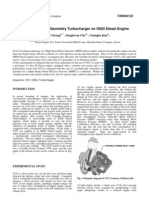 Effect of Variable Geometry Turbocharger on HSDI Diesel Engine