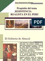 La Resistencia Realista en El Peru