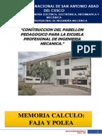 CALCULO DE FAJA Y POLEA