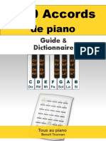 300 Accords de Piano Guide Et Dictionnaire 2015