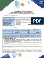 Guía de actividades y rúbrica de evaluación - Etapa 2 - Planeación