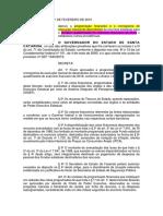 Decreto Estadual nº 23; 112; 235, de 2019 - Programação financeira - 2019