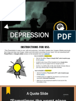 013 Depression PPT Presentation Template and Google Slides Theme For Free