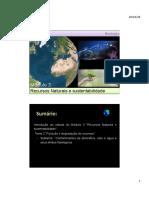 1. Poluição e degradação de Recursos