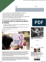 10 certezas sobre violencia de género en España