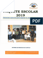 Informe de Rendición de Cuentas - Paquete Escolar 2019