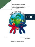 UNIVERSIDAD BOLIVARIANA DE VENEZUELA DERECHOS HUNANOS