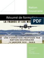 Résumé de la formation sur l'immigration par Nation Souveraine - Paris, 14 janvier 2020