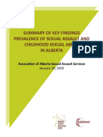Prevalence of Sexual Assault Childhood Sexual Abuse - Summary of Key Findings