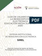 Reinscripcion Becas Benito Juarez Manual Sirel 2020