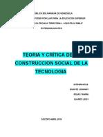 Teoria y Critica de la Construccion Social de la Tecnologia