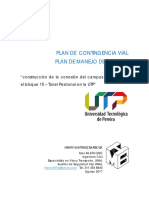 Plan de manejo de tránsito (Campus túnel peatonal)