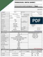 CS Form No. 212 Attachment