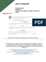 Uni. 3  Actividad 2. Cálculo de pendientes en problemas reales