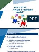 UFCD 6732 - SOCIOL E REALIDADE SOCIAL