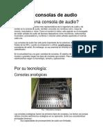 Tipos de consolas de audio