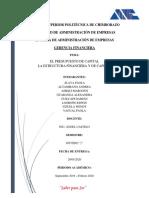Presupuesto de capital y la estructura financiera y de capital