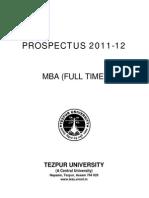 MBA Prospectus 2011-12