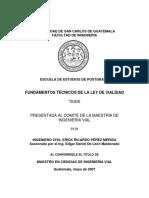 LEY DE VIALIDAD GUATEMALA
