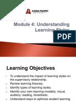TRAINING  MODULE 4 Learning Styles.pptx