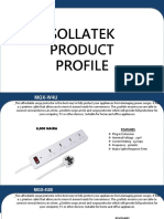 SOLLATEK PRODUCTS PROFILE