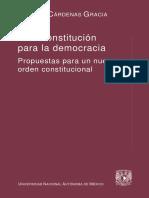 50 - Una Constitución para la democracia, 1a. reimp. - Jaime Cardenas Gracia [ PDF ]