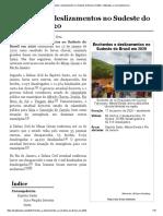 Enchentes e deslizamentos no Sudeste do Brasil em 2020