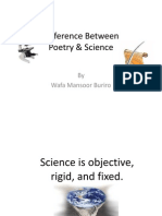 Difference Between Poetry and Science