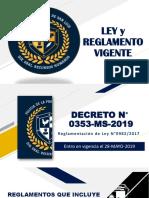 LEYES Y REGLAMENTO 2019-CLASE
