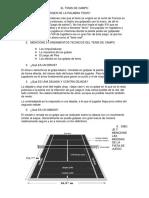 EL TENIS DE CAMPO el tenis