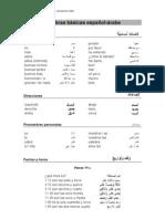 Palabras básicas español arabe
