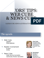 Web Cube and News Cube Tips
