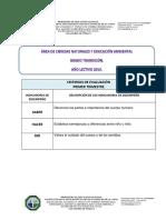 Información  Area C.N Y E.A día E 2019.