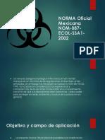 NORMA Oficial Mexicana NOM-087-ECOL-SSA1-2002
