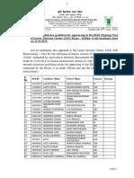LDC(DR) Examination-2016 Result