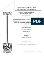 TESIS ANALISIS DE NIVEL DE SERVICIO Y CAPACIDAD