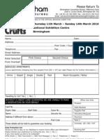 Crufts Applic Form