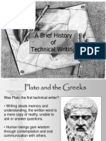 ABrief History of Technical Writing