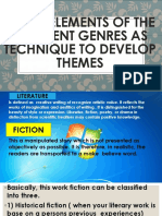Using elements of the different genres as technique.pptx