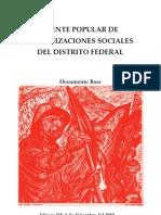 Frente Popular de Organizaciones Sociales del DF, documento base