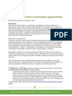Guidance on Host Community Agreements