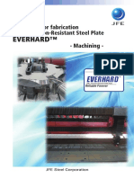 Guidelines for Fabrication JFE's Abrasion-Resistant Steel Plate Machining