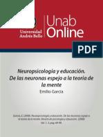 Neuropsicologia Neuronas Espejo y Educación