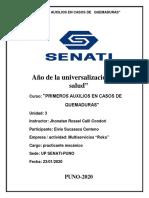 PRIMEROS AUXILIOS EN CASOS DE  QUE MADURAS