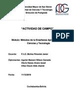 Actividad de Campo-Reactores Quimicos (Aldo, Wilson, Alvaro)
